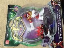 Power Rangers stylised figures red ranger & dino megazord