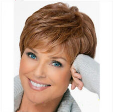 big sales New sexy Women ladies Natural Hair wigs short light Brown wig+hair cap