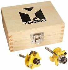 Yonico 12238q Rail And Stile Router Bits With 2 Bit Round Over 1/4-inch Shank