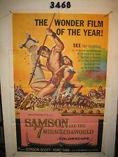 Samson and the Seven Miracles of the World Original 1sh Movie Poster '62
