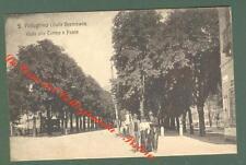 Lombardia. SAN PELLEGRINO, Bergamo. Viale alle Terme. Cartolina viaggiata 1907.