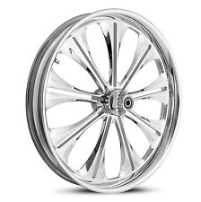 "DNA ""ENVY"" CHROME FORGED BILLET 30""X 4"" FRONT WHEEL HARLEY CUSTOM"
