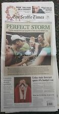 Perfect Storm CHAMPS! The Seattle Times Full Newspaper Friday, Sept 17th 2010
