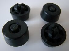 4x Black Rubber Easy Fit Circular Feet with a Push Rivet Flexible for Cases RF13
