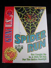 "Vintage IBM PC Game - Spider Run - Big Box 3.5"" Disk - NEW"