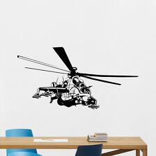 Apache Helicopter Wall Decal Military Vinyl Sticker Poster Nursery Decor 65hor