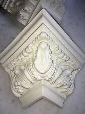 LOT 10Foam Corner Blocks Crown Molding Acanthus Mitre Fit Architectural Ornament
