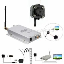 Mini Pinhole/Micro CCTV Camera & Receiver Security IR Night Vision Wireless Cam