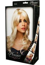 Sexy Jessie Platinum Blonde Wig  - Human Like Hair - Pleasure Wigs