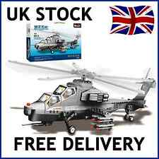 WZ-10 GUNSHIP ARMY MILITARY HELICOPTER BUILDING BRICKS 304 PCS COMPATIBLE JX002