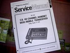 SERVICE Manual REALISTIC Radio Shack CB 40-CHANNEL Transceiver TRC-454 21-1543