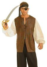 ADULT PIRATE BUCCANEER LEATHER LOOK SHIRT COSTUME FM60801