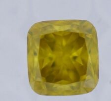 Fancy Yellow Diamond Loose ENGAGEMENT RING 2.04 Ct Color Enhanced Radiant Cut