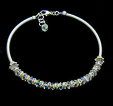 New Crystal AB and 925 sterling silver Bracelet made with Swarovski Elements