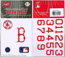BOSTON RED SOX MLB Batting Helmet Rawlings DECAL KIT