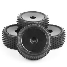 4Pcs A03 RC Front&Rear Rubber Tires +Wheel Rim For 1/10 Off-Road Buggy Car Set