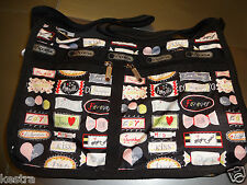 Lesportsac Deluxe Everyday Bag Sweet Talk Crossbody Purse New with Tags
