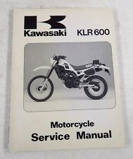 Kawasaki KLR 600 1984 Motorcycle Service Manual NEW