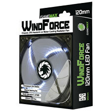 Game Max WindForce, 4 x White LEDs, 120mm Fan PC 12cm Case Fan High Performance
