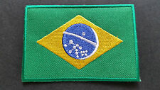 NATIONAL COUNTRY FLAG SEW ON / IRON ON PATCH:- BRAZIL