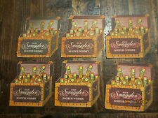 6 OLD SMUGGLER  early 1980,s SCOTCH WHISKY collectable COASTERS