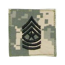 US ARMY Military clothing rank Seargent Major ACU Uniform UCP SGTM patch