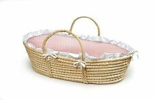 Badger Basket Company Natural Baby Moses Basket - Pink 00889..from Badger Basket