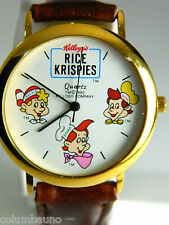 """""""Rice Krispies""""  SNAP ,CRACKLE AND POP MENS/KIDS CHARACTER WATCH,"""