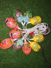 Vintage Set Of Ten Easter Shrinky Dink Colorful Blow Mold Novelty Egg Lights