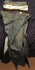 5 Pairs of Jeans 3 Old Navy 40 x 30 Aeropostale Wrangler New and Used Mix Men's