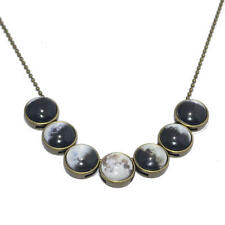 Moon Phase Glass Dome Necklace