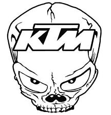 KTM Skull funny car van,bumper, windows, laptop, lorry JDM vinyl decal sticker
