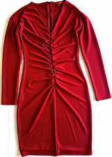 Narciso Rodriguez for Design Nation Red Ruched Dress Knee Length Size S NWOT