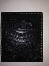 Montana West Men's Praying Cowboy Cross Horse Western Wallet Leather - BLACK