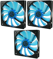 3 x GELID Solutions Wing 14 UV Blue 140mm Ultraviolet Reactive Quiet Case Fans