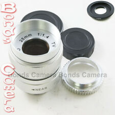 25mm f/1.4 C Mount CCTV Lens for Canon EOS M EF-M mirrorless lens camera silver