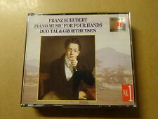 2 CD BOX / SCHUBERT, DUO TAL & GROETHUYSEN: PIANO MUSIC FOR FOUR HANDS - VOL 1