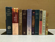 Lot of 10 Assorted Bibles, NEB, Amplified, KJV, NIV, NKJV, The Promise, CEV
