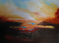 "New original elizabeth williams ""un ensemble de the sun"" atmospheric ciel peinture à l'huile"