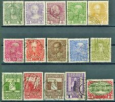 Austria Issues of 1908 Set of 15 Used Scott's Range from 110a to 125