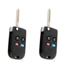 2Pcs Keyless Remote Key Case Shell For Ford Explorer Fusion Focus Escape FOB 4BT