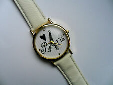 Unusual Love PARIS  Quartz Watch White Strap