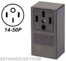 WELDER ELECTRIC WALL OUTLET FEMALE 14-50R 3-PRONG PLUG IN BOX 220 RECEPTACLE