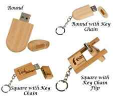 PERSONALIZED WOOD 4GB USB FLASH DRIVE Your Choice of Style. Your Wording & Font