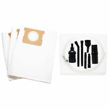 3x Vacuum Bags for Shop Vac 90661, CH87 650c Professional 587 25 10 w/ Micro Kit