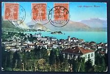 Switzerland 1923 Lago Maggiore TEUFEN postcard to PENANG Straits Settlements