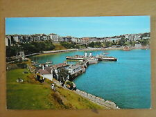 OLD POSTCARD OF THE VIEW FROM CASTLE HILL, TENBY