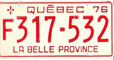 ❤❤❤ AUTHENTIC CANADA 1976 QUEBEC MONTREAL OLYMPIC LICENSE PLATE. F317-532