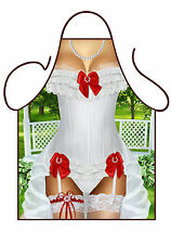 WOMEN'S FUN SEXY NOVELTY BRIDE TO BE APRON,HEN NIGHT, SUSPENDERS, BBQ & KITCHEN