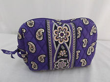 VERA BRADLEY SIMPLY VIOLET LARGE COSMETIC BAG NWOT
